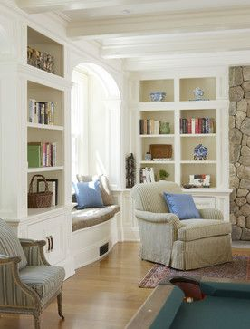Traditional Family Room Window Seat Design, Pictures, Remodel, Decor and Ideas - page 9