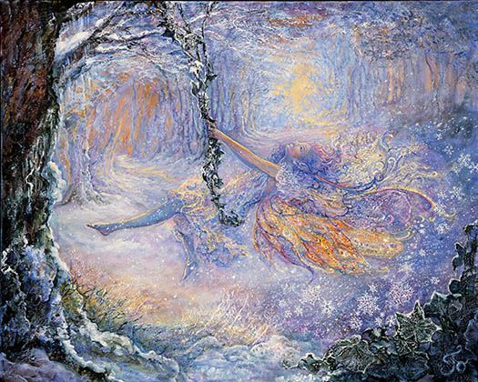 Josephine Wall, Swinging in the Snow