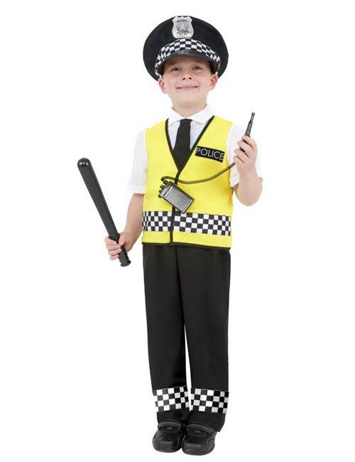 Polizist Kinder-Kostüm, schwarz-weiß - Artikelnummer: 459640000 - ab 24.99EURO - bei Karneval-Megastore.de!