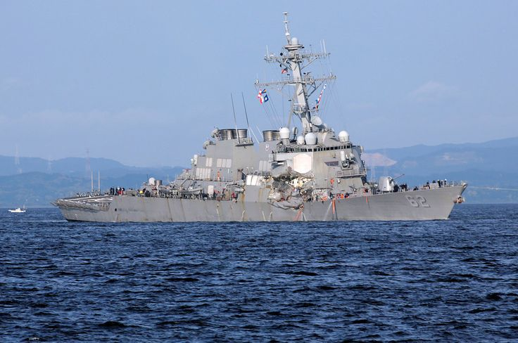 The United States Navy and Coast Guard, and the Japanese authorities, ramped up their investigations in the collision of a cargo vessel and an American warship.