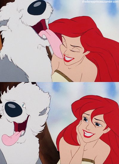 Another reason to love the Little Mermaid - the correct type of dog!