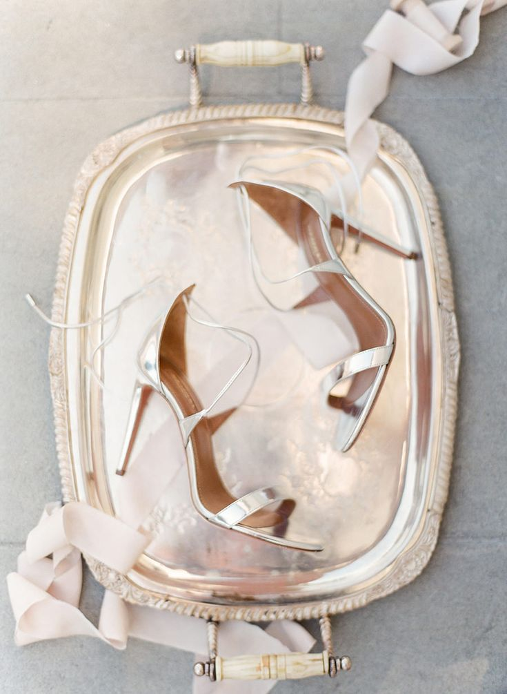 Aquazzura Linda Metallic Strappy Sandals | photo: ARTIESE