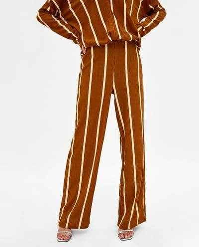 TEXTURED TROUSERS WITH STRIPES-BEST SELLERS-WOMAN | ZARA United States