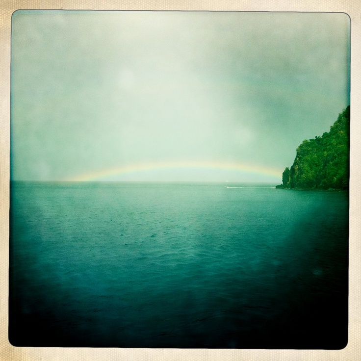 Afternoon, somewhere near St. Lucia