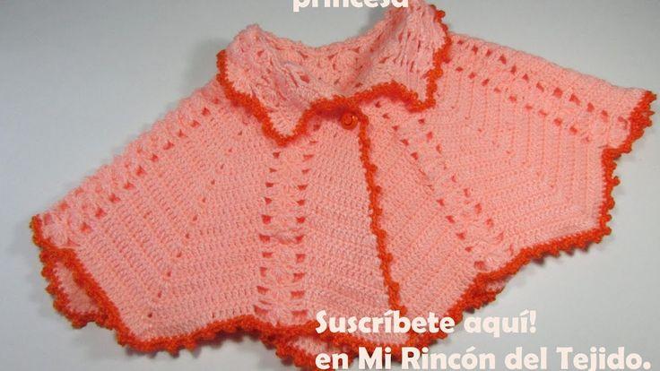 Capita para bebe tejida a crochet paso a paso - Mi Rincón del Tejido