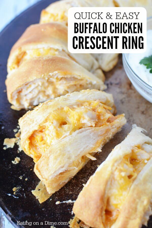 Make this easy Buffalo Chicken Crescent Ring Recipe. It's the perfect appetizer and everyone will love this easy buffalo chicken. Try Crescent ring recipes.