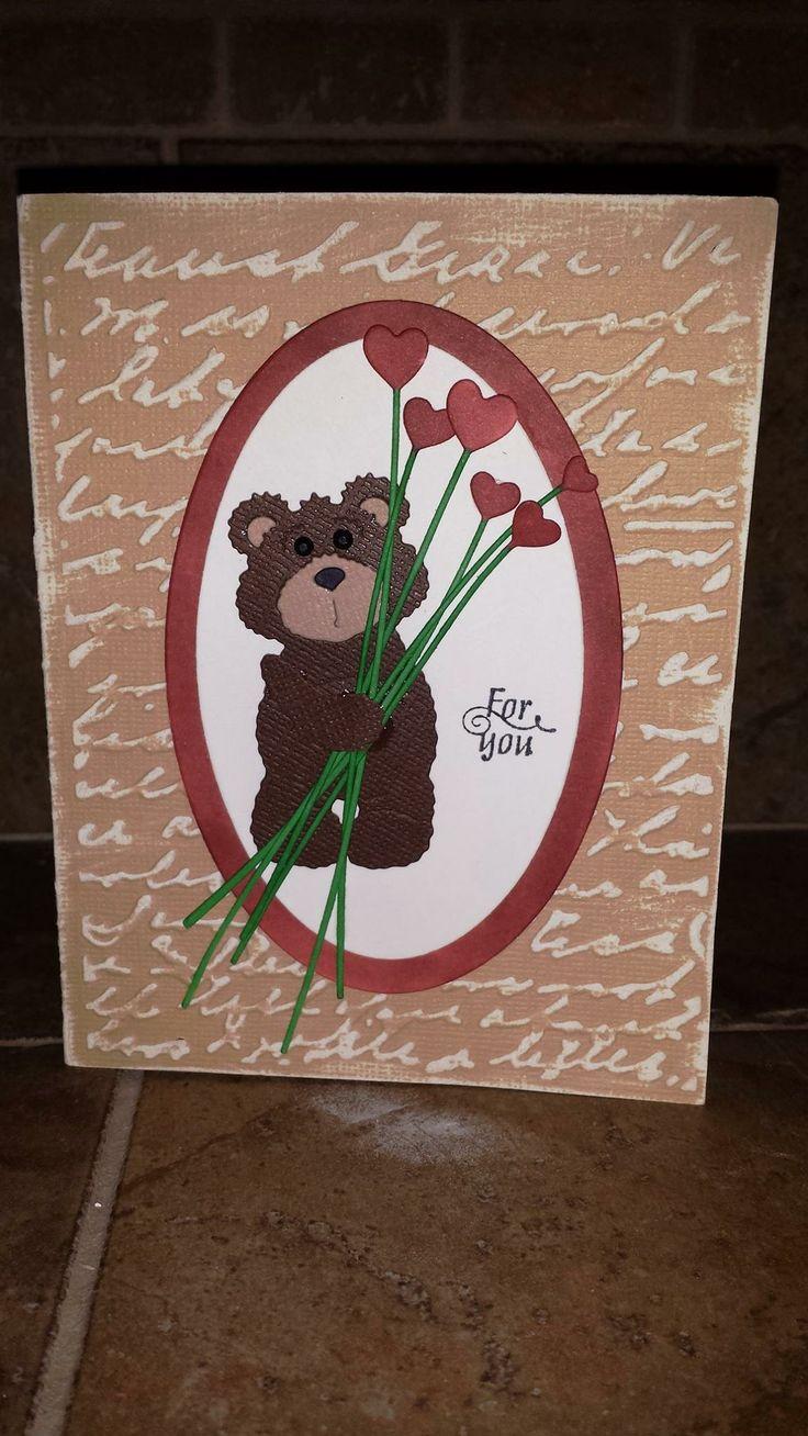 Mr. Snuggles Valentine card #CottageCutz #TMCanada #Valentine #card
