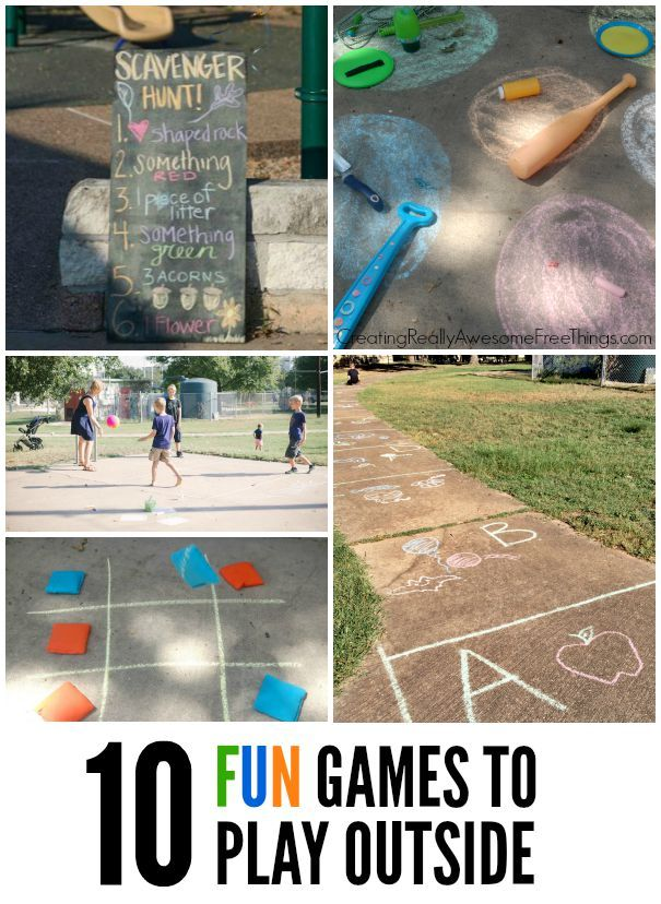 I love that these are EASY to do!  10 Fun and easy games to play outside