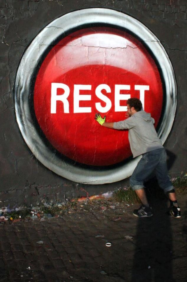 There are a lot of cool ways to use this picture as a writing prompt. What is this guy resetting? Or...what would you reset if you could push a button and change things? Lots of options! Great photo! | #ywritechat | young writers | writing prompt | #prompt | photo prompt | story starter