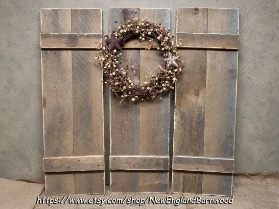1000 ideas about rustic interior shutters on pinterest - Decorative interior wall shutters ...
