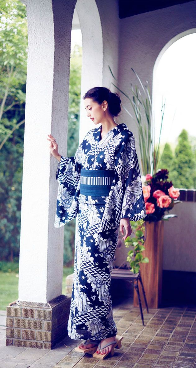 Otona Muse magazine - Yukata fashion - August 2014