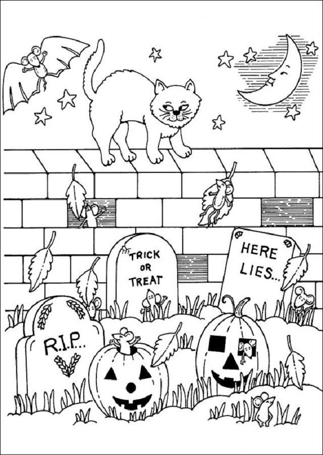 Pin de dibujosparacolorear en dibujos para colorear halloween ...