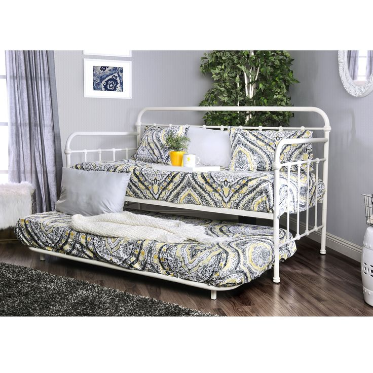 Furniture of America Lissa Modern 2-Piece Daybed with Trundle Set