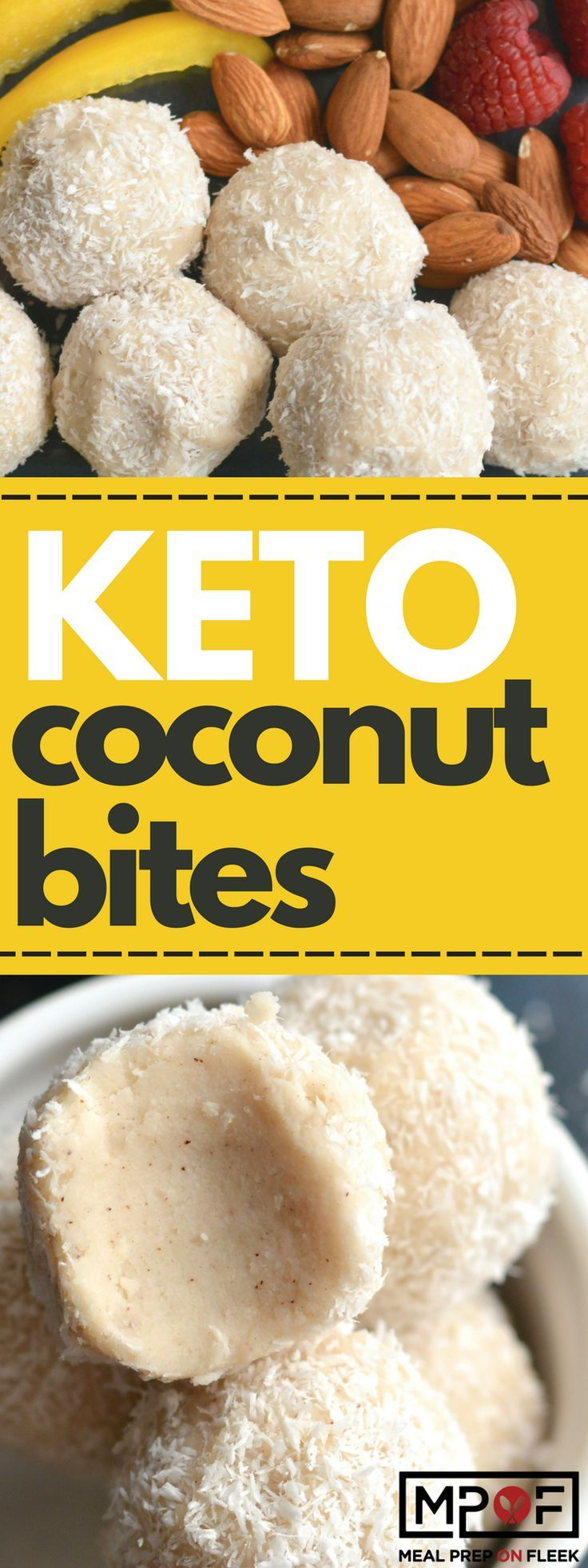 These sugar free coconut balls are naturally sweetened with coconut, cinnamon and stevia. A no-bake, low-carb snack you can't go wrong with! Awesome fat bombs. #keto #ketogenic #fatbomb #fatbombs