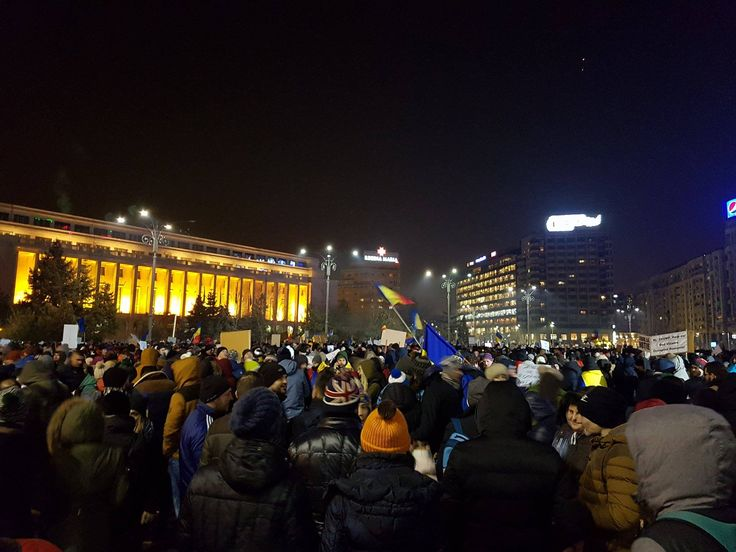 Over 125,000 people gathered downtown Bucharest on Wednesday evening in the largest street protest in Romania in the last 25 years.
