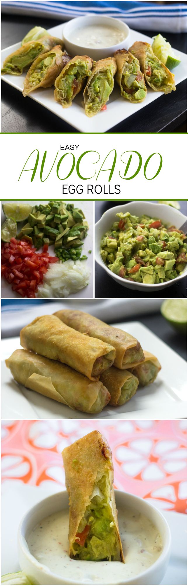 Easy Avocado Egg Rolls just like the cheesecake factory except 1000x better!! Sponsored #LoveOneToday hassavocados