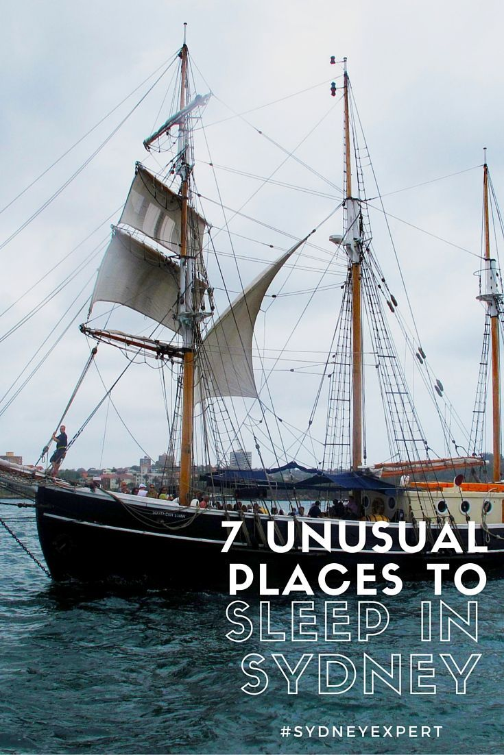 Tired of hotels?  Check out this list of unusual options for something a bit different on your visit to #Sydney