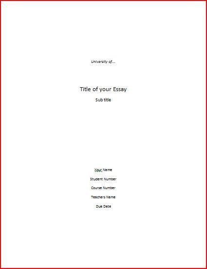 how to make a cover sheet for a paper