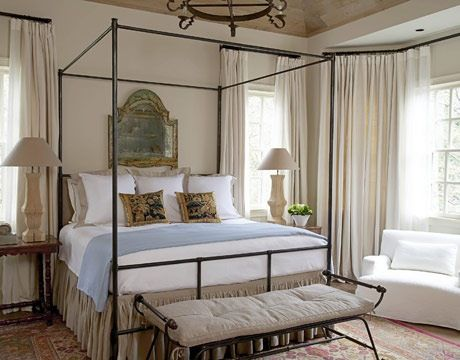 Sleep, bedroom, bed linens, four poster bed, pillows, cline Houston,