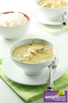 Thai Green Curry. #HealthyRecipes #CurryRecipes #WeightLoss #WeightlossRecipes weightloss.com.au