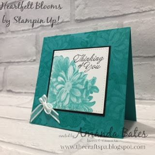 Heartfelt Blooms card by Amanda Bates at The Craft Spa in the UK. Independent Stampin' Up! UK Demonstrator, Blogger and Tutorial Publisher with Online Shop 24/7