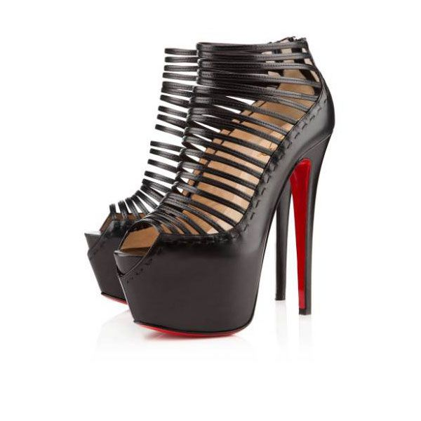 christian louboutin zoulou 160mm corde black