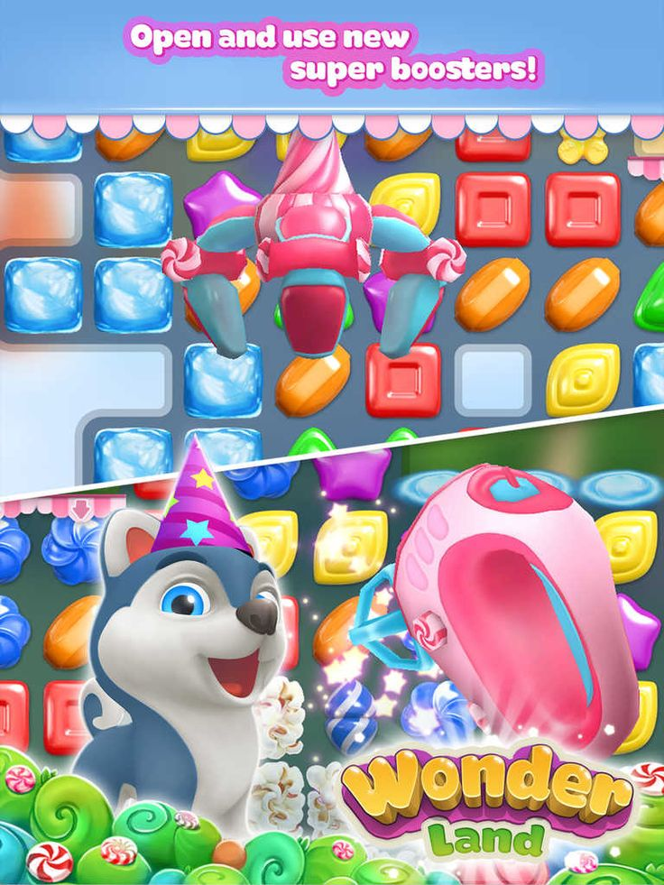 Wonderland best free candy match 3 puzzle game in 2020