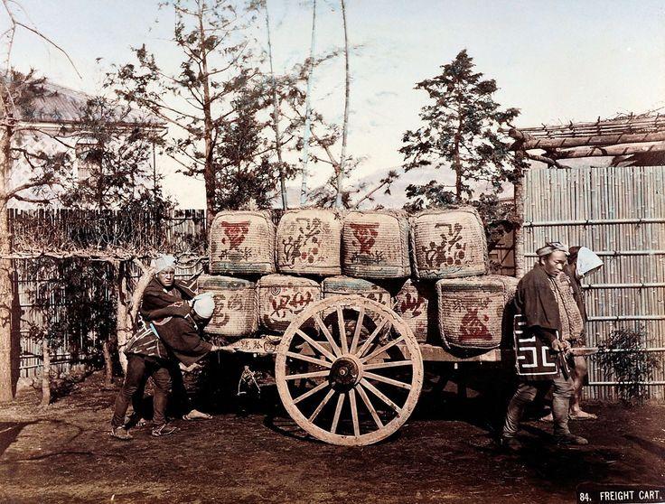 84. Freight Cart | Kusakabe Kimbei | 1880-1890 | Museum für Kunst und Gewerbe Hamburg | CC0