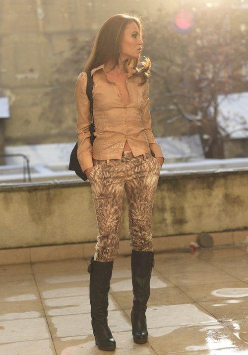Pantaloni de dama Astrid Caramel