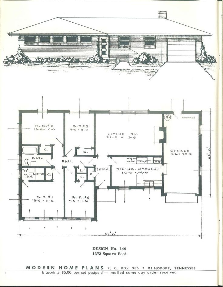 443 best images about vintage house plans 1950s on for 1950s house floor plans