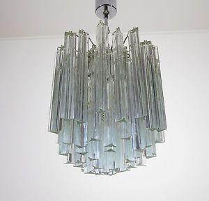 lampadario venini : ... CRISTALLO LAMPADARIO LAMPADA IN STILE VENINI -- 55 prismi eBay
