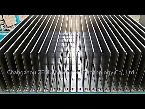 Transformer Corruagted fin folding line in Russia By Changzhou ZEMU Mach...