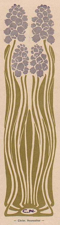 Art Nouveau illustration by Christian Neureuther for Jugend magazine, 1914. (Jugdenstil Movement)