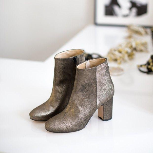 bottines cuir métalliséblog