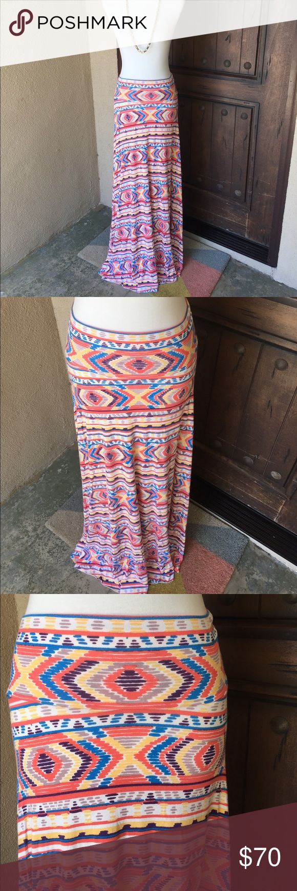 Rachel Pally Long Full Skirt Print Aztec Worn only once and in excellent condition. Super soft, wonderful colors!! Rachel Pally Skirts Maxi