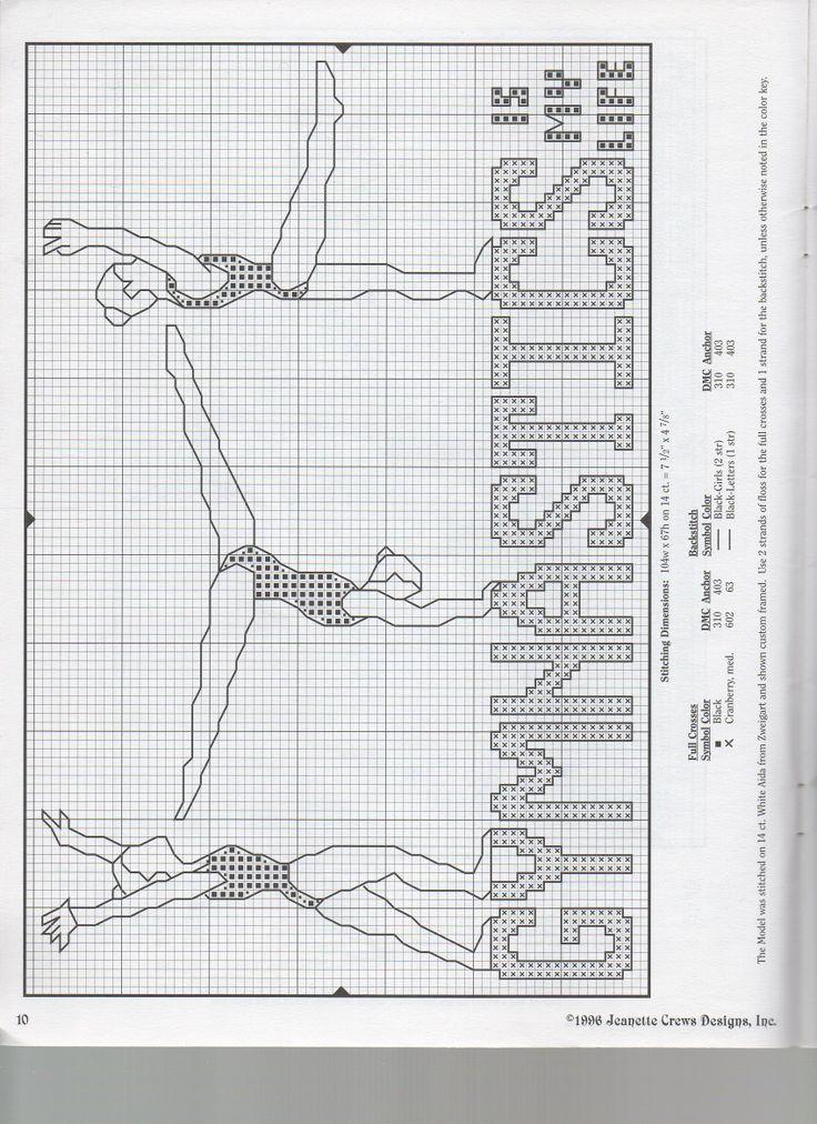 Gymnastic cross stitch patterns