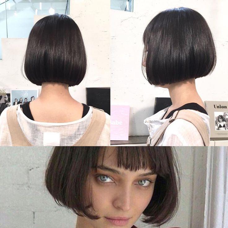 あご上ラインのリトルブラックボブ✂️ サラッと簡単スタイリング✨✨ カット✂︎7200 #hair #bob #shima #shimaplus1 #シマ #クルーエル#ぱっつんボブ #fudge #ストレートヘア #tokyo #アンニュイ #黒髪ボブ #blackhair #fashion #ファッション #大人ミューズ #リトルブラックボブ #id #マチルダボブ #ボブヘア #ショートボブ #ミニボブ