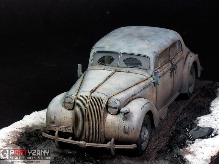 WWII German Staff Car 1/35 Scale Model Diorama