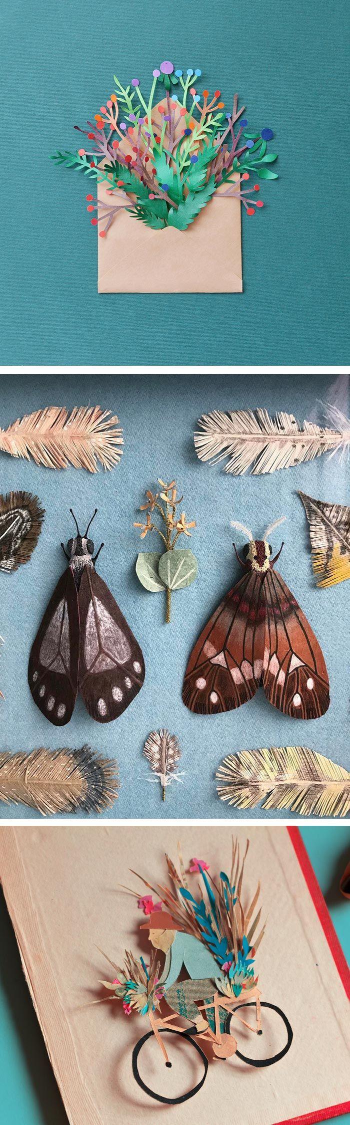 Paper illustrations // nature art // paper craft