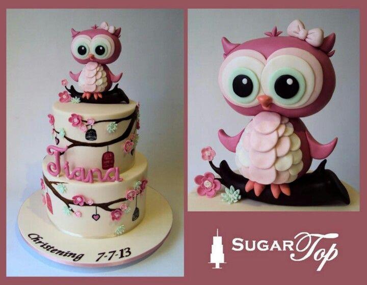 .owl cake love love.