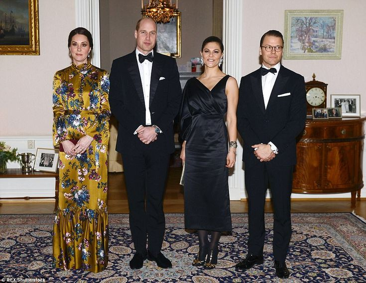 The Duke and Duchess of Cambridge were joined by Crown Princess Victoria and Prince Daniel of Swede as they kicked off their Scandinavian tour with a day of engagements in Stockholm.