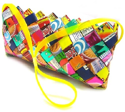 candy wrapping dress | Candy Wrappers Bags Make