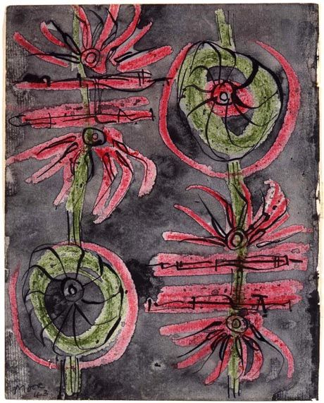 Henry Moore Drawing: Textile Design for 'Fruit and Flowers' 1943 