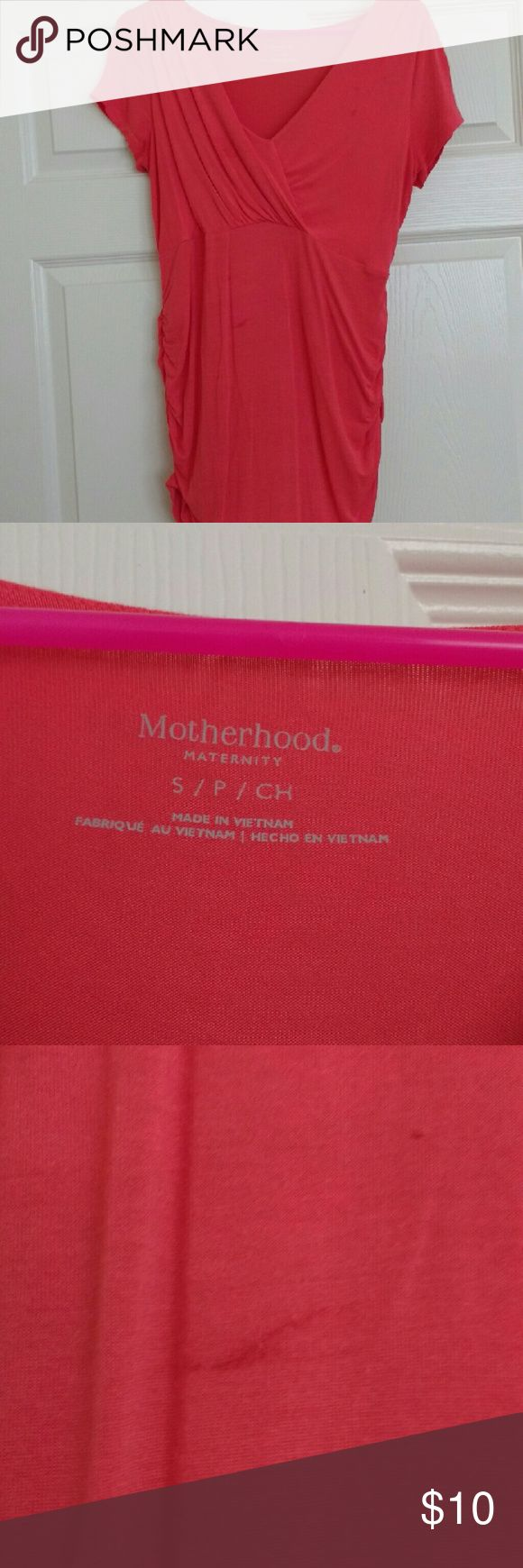 Maternity top Orange maternity top. Perfect for the summer. Has a few marks shown in the pics Motherhood Maternity Tops