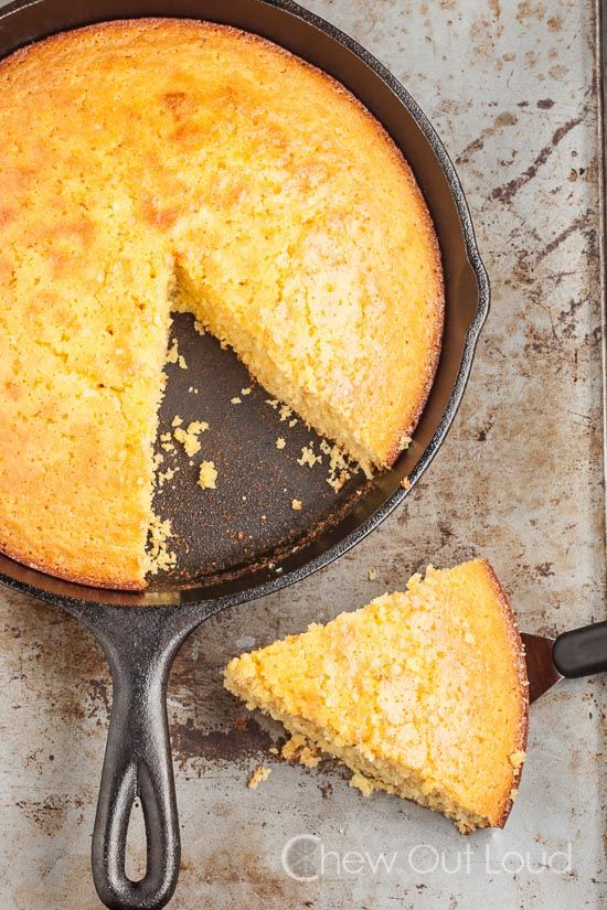 Sweet Honey Cornbread- This was very good.  I used it to make a chili cornbread skillet.  I think next time I would use a little less vanilla, but it was delicious.