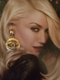 gwen stefani wearing vintage chanel earrings - Google Search