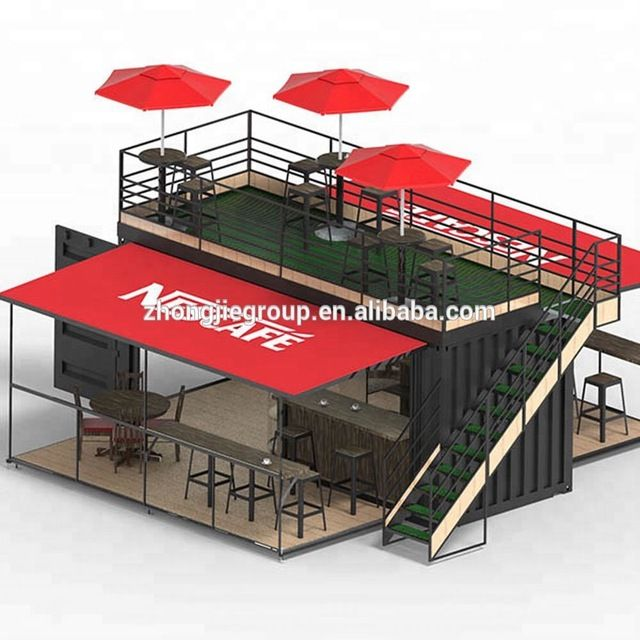 Pop Up Mobile Coffee Shop Container Design 10ft 20ft 40ft Prefabricated Shipping Container Coffee Shop Buy Pop Up Mobile Coffee Shop Container Design Prefabri Rumah Kontainer Kedai Kopi Desain Eksterior