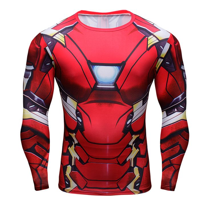 nice Rashguard Long Sleeve Rashguard Iron Man Mark Gear Crossfit  -  This t-shirt looks like natural superhero gear! Fits perfectlyrash guard tee shirtis ideal for sport and daily usage. This shirt containslycra, which allows material stretch to the several sizes and comes back to normal size. Perfectly breathtissue, the color doesn't fade over time.