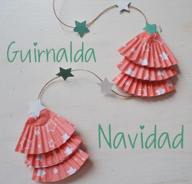 {DIY Navidad} Guirnalda mini arbolitos
