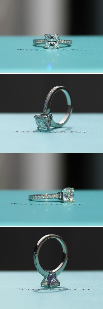 trojanwr21 selected the Tiffany Novo for his soon-to-be fiancé. The 1.49 carat I VS1 cushion cut diamond is set in the classic 4 prong Novo setting.    The Tiffany Novo remains one of the most popular diamond engagement rings.